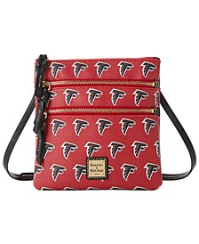 Atlanta Falcons Saffiano Triple Zip Crossbody