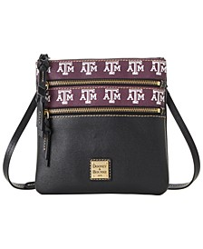 Texas A&M Aggies Saffiano Triple Zip Crossbody