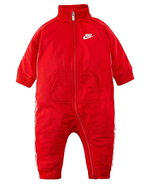 Nike Baby Boys Logo-Taping Full-Zip Coverall