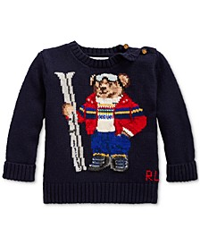 Baby Boys Ski Bear Cotton-Blend Sweater