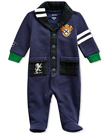 Baby Boys Cotton-Blend-Fleece Coverall