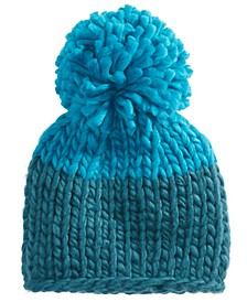 Cozy Up Colorblock Pom-Pom Hat