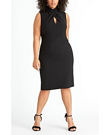 Trendy Plus Size Twisted Sheath Dress