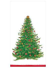 Glittering Tree White Paper Guest Towel