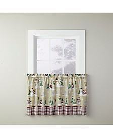 "Joyful Snowmen 24"" Window Tier Set"