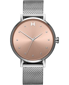 Women's Dot Wink Stainless Steel Mesh Bracelet Watch 36mm