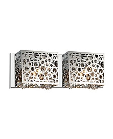 CLOSEOUT! Bubbles 2 Light Wall Sconce