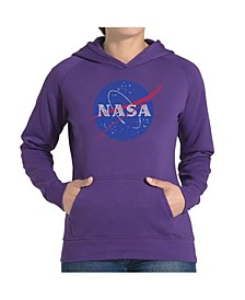 Women's Word Art Hooded Sweatshirt -Nasa's Most Notable Missions