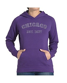 Women's Word Art Hooded Sweatshirt - Chicago 1837