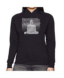 LA Pop Art Women's Word Art Hooded Sweatshirt - Zen Buddha