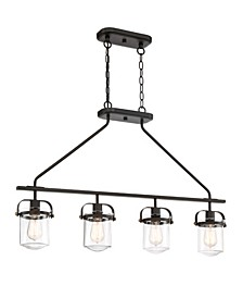 Designers Fountain Jaxon 4 Light Linear Chandelier