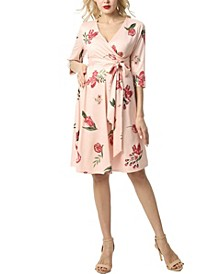 Althea Faux Wrap Maternity Nursing Dress