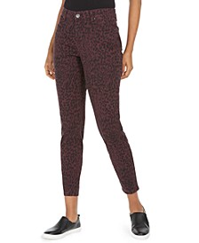 Petite Curvy Animal-Print Skinny Jeans, Created for Macy's