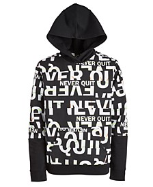 Big Boys Never Quit Layered-Look Hoodie, Created For Macy's