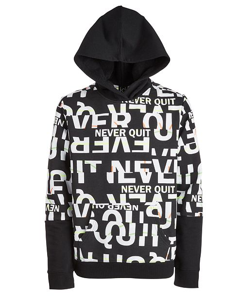 Ideology Big Boys Never Quit Layered-Look Hoodie, Created For Macy's