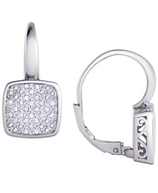 Diamond 1/4 ct. t.w. Square Cushion Leverback Earrings in Sterling Silver
