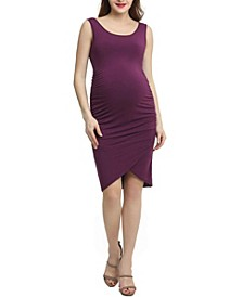 Stefanie Maternity Tulip Hem Midi Dress