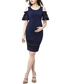 Marissa Maternity Cold Shoulder Sheath Dress