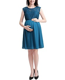 Genevieve Maternity Lace Skater Dress