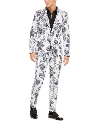 I.N.C. Men's Slim-Fit Floral Jacquard Blazer, Created For Macy's