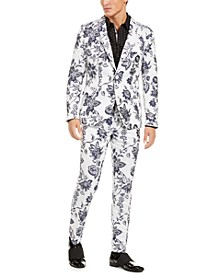 INC Men's Slim-Fit Floral Jacquard Suit Seperates, Created For Macy's