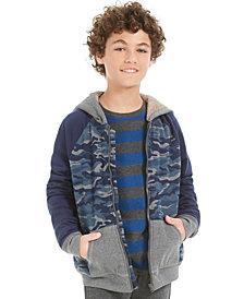 Epic Threads Big Boys Camo-Print Fleece-Lined Full-Zip Hoodie, Created For Macy's