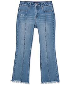 Big Girls Frayed Flare-Leg Jeans