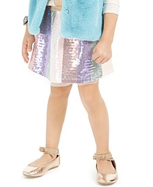Little Girls Sequined Rainbow Skirt, Created For Macy's