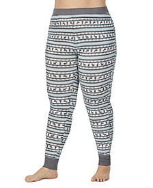 Plus Size Stretch Thermal Leggings With Pockets