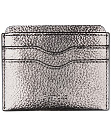 Men's Pebble Faux-Leather Card Case