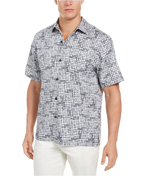 Tommy Bahama Men's Big & Tall Poolside Tiles Shirt
