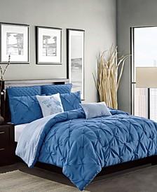 Olympia 7-Piece Reversible King Comforter Set