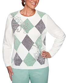 Lake Geneva Embroidered Chenille Sweater