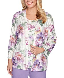 Loire Valley Printed Layered-Look Top