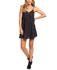 Juniors' Strappy Dot-Print Dress