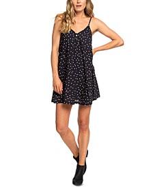 Juniors' Strappy Dot-Print Dress