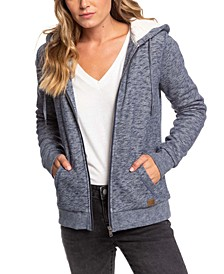 Zip-Up Hoodie With Faux-Sherpa Lining
