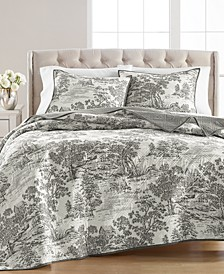 CLOSEOUT! Fox Toile Quilt & Sham Collection, Created for Macy's