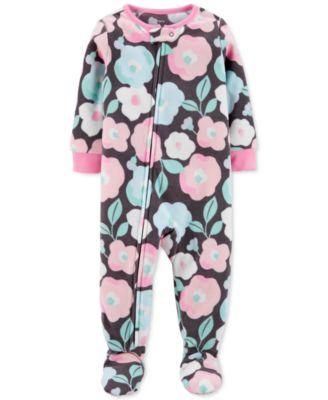 12-24 Months Carters Baby Koala Girls 1-pc Microfleece Footed Pajamas