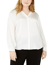 Plus Size Silk Blouse