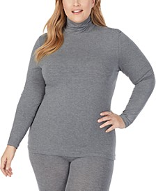 Plus Size Softwear With Stretch Long-Sleeve Turtleneck Top