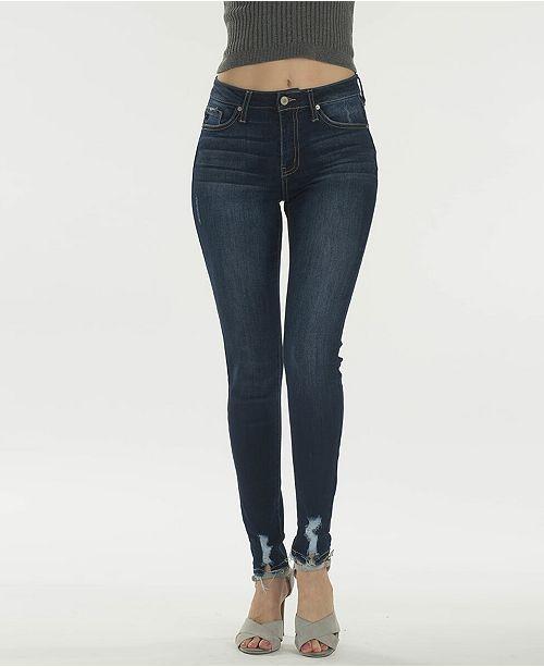 Kancan High Rise Super Skinny Distressed Hem Jeans