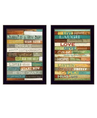 """Today is a New Day Collection By Marla Rae, Printed Wall Art, Ready to hang, Black Frame, 10"""" x 14"""""""