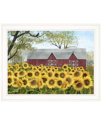 """Sunshine by Billy Jacobs, Ready to hang Framed Print, White Frame, 27"""" x 21"""""""