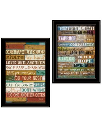 """Today Is 2-Piece Vignette by Marla Rae, Black Frame, 15"""" x 21"""""""