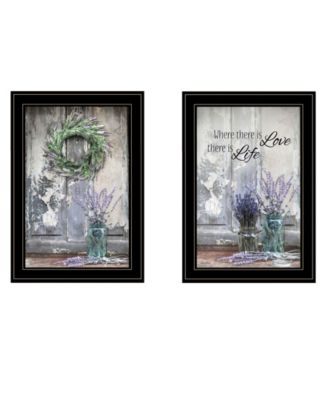 """Where There is Love 2-Piece Vignette by Lori Deiter, Black Frame, 15"""" x 21"""""""