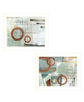 """Balance this I II 2-Piece Vignette by Cloverfield Co, White Frame, 19"""" x 15"""""""