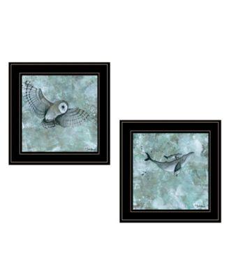 """Wildlife 2-Piece Vignette by Britt Hallowell, Black Frame, 15"""" x 15"""""""