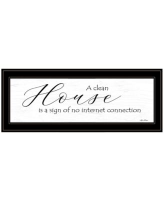"""A Clean House by Lori Deiter, Ready to hang Framed Print, Black Frame, 23"""" x 11"""""""