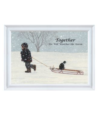 """Together By Bonnie Mohr, Printed Wall Art, Ready to hang, White Frame, 15"""" x 11"""""""